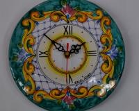 Piatto orologio da parete Decoro_ Barocco Verde cm.20 € 26,00