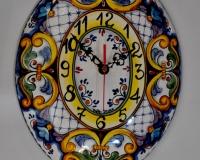 Orologio ovale Decoro_Barocco Blu diametro cm.29 €65