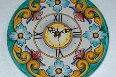 Piatto orologio da parete Decoro_ Barocco blu cm. 30 euro 38,00
