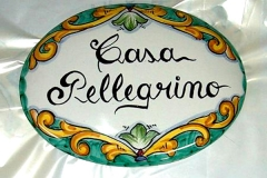 targa con scritta Decoro_Barocco Verde